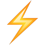 Image result for lightning emoji