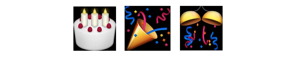 Поздравления с днем рождения смайликами эмодзи6