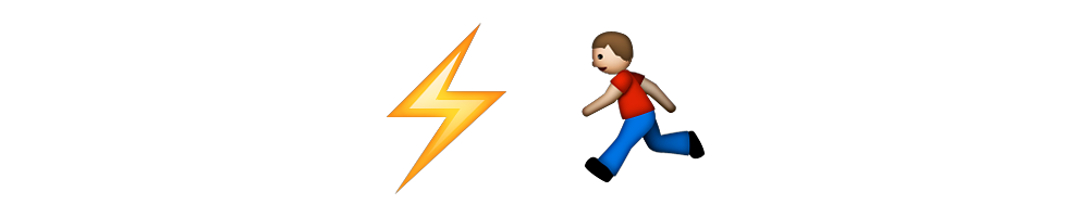Lightning Fast Emoji Meanings Emoji Stories