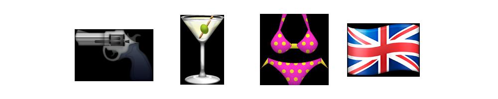 James Bond | Emoji Meanings | Emoji Stories